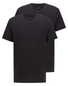 BOSS Two-pack of relaxed-fit underwear T-shirts in cotton