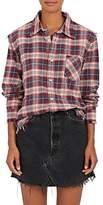 R 13 Women's Shredded Seam Cotton Shirt