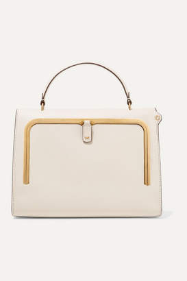 Anya Hindmarch Postbox Textured-leather Tote - Cream
