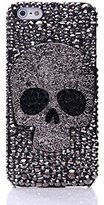 Iphone 6/6s Skull Case,Jesiya Luxury 3D Shiny Crystal Sparkle Rhinestone Metal CrossBones/Skull Head Back Ultra Thin Hard PC Bling Diamond Glitter Case For Iphone 6/6s 4.7""