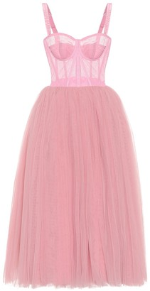 Dolce & Gabbana Tulle-trimmed dress