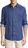 Lenor Romano Batik-Print Cotton Sport Shirt