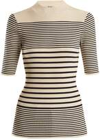 Acne Studios Wimna striped ribbed-knit cotton-blend top