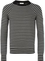 Saint Laurent striped crew neck jumper