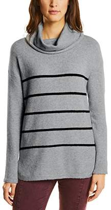 Street One Women's 300438 Jumper, (Cyber Grey Melange 20767)
