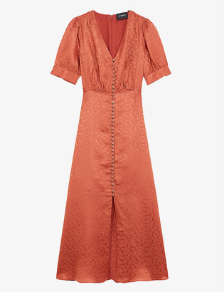 The Kooples Button-down silk-crepe dress