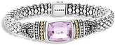 Lagos 18K Gold and Sterling Silver Caviar Color Bracelet with Rose de France Amethyst