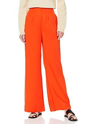 Selected Women's SLFTONIA HW Pants B Trousers, Orange Cherry Tomato, W(Size: 42)