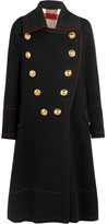 Burberry Double-breasted Wool And Cashmere-blend Coat - Black