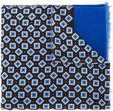 Corneliani jacquard raw edge scarf