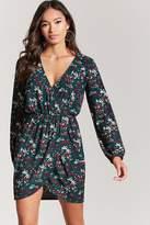 Forever 21 Floral Mock-Wrap Dress