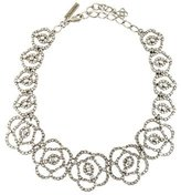 Oscar de la Renta Crystal Flower Necklace