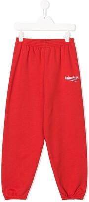 Balenciaga Kids Logo-Print Track Trousers