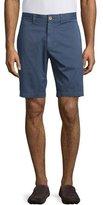 Robert Graham Journeyman Flat-Front Shorts, Navy