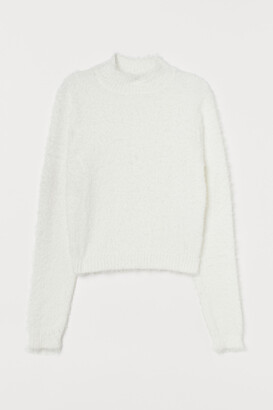 H&M Fluffy Mock-turtleneck Sweater