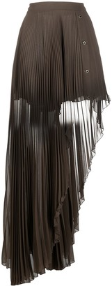 Patrizia Pepe Asymmetric Pleated Skirt