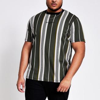 River Island Big and Tall Maison Riviera khaki T-shirt
