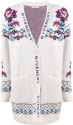 Givenchy Floral Jacquard Cardigan