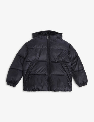 Emporio Armani Hooded nylon coat 4-16 years