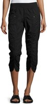 XCVI Iris Ruched-Center Crop Pants