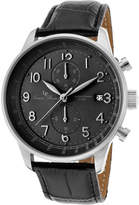 Lucien Piccard Men's 10503-01-BK - Black Genuine Leather/Black Chronograph Watches