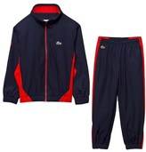 Lacoste Navy and Red Diamond Weave Tracksuit