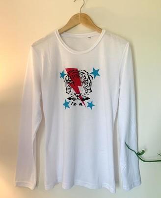 Belle Modelle Belle-Modelle - Tiger Flash Long Sleeve T Shirt - XS (8) / White