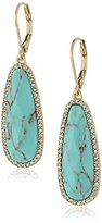 "lonna & lilly Classics"" Gold-Tone/Faux-Turquoise Drop Earrings"