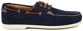 Polo Ralph Lauren Men's Bienne II Suede Boat Shoes Newport Navy