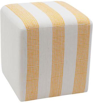 Imagine Home Yellow Dot Cube Ottoman - Yellow