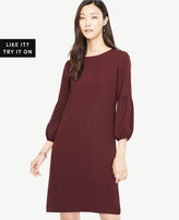 Ann Taylor Lantern Sleeve Shift Dress