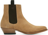 Marc Jacobs Tan Suede Chelsea Boots