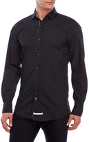 English Laundry Dotted Print Woven Sport Shirt