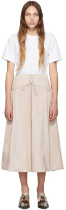 3.1 Phillip Lim White and Beige T-Shirt Corset Dress