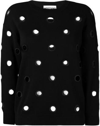 Moschino Eyelet Detail Sweater