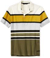 Sean John Men's Colorblocked Striped Polo