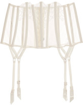 La Perla Light And Shadow Lace And Tulle Suspender Belt