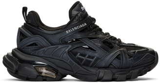 Balenciaga Black Track.2 Open Sneakers