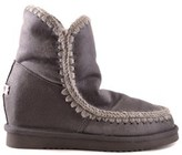 Mou Women's Grey Suede Ankle Boots.