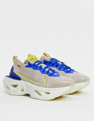 Nike Zoom X Vista Grind Natural And Blue Sneakers