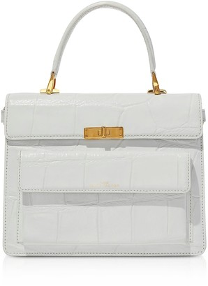 Marc Jacobs The Uptown Croc Embossed Leather Top Handle Bag