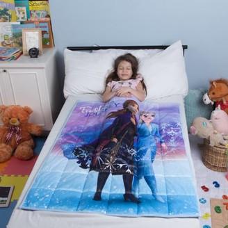"Disney Frozen Disney's Frozen 2 Kids Weighted Blanket, Super Soft Plush, 36""x48"" 4.5lbs, feat. Elsa & Anna"