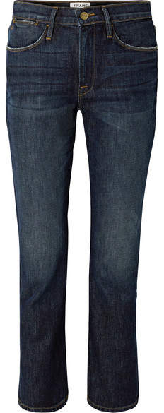 Frame Le High Straight-leg Jeans - Dark denim