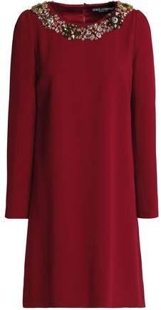 Dolce & Gabbana Embellished Crepe Dress