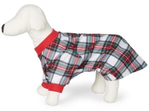 Matching Pet Stewart Plaid Family Pajamas, Created for Macy's