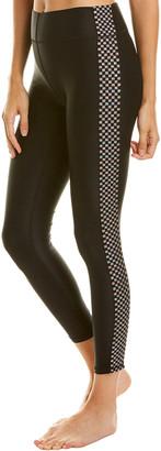 Terez High Band Checkered Elastic Legging