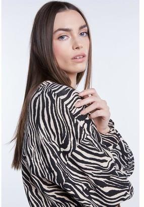 Set Fashion - Zebra Print Sweater - 36