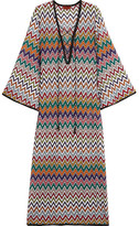 Missoni Mare Lace-up Crochet-knit Kaftan - Orange
