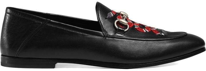 Gucci Leather loafers with Kingsnake