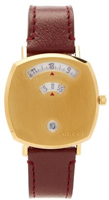 Gucci Grip Three-window Gold Pvd Watch - Gold